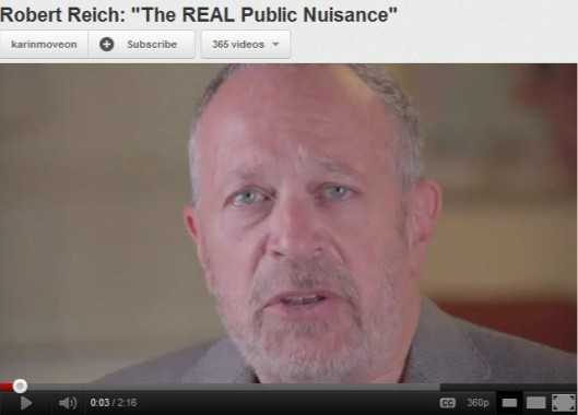 robert reich on occupy wall street