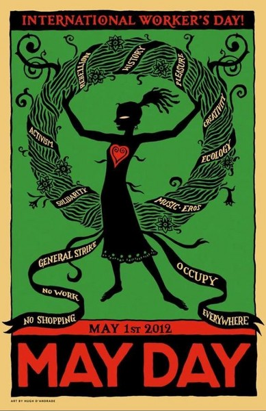 occupy, workers, labor, unity, May Day, Occupy Wall Street, protest, green & red