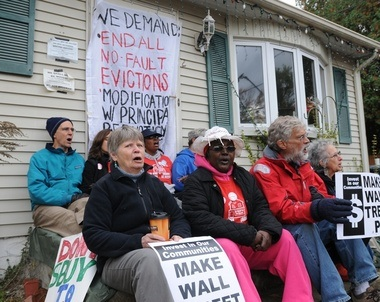 No One Leaves Springfield, evictions, Occupy, banksters, Lehman Brothers, protest, Big Banks